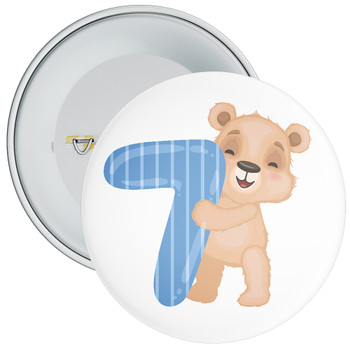 Bear 7th Birthday Badge