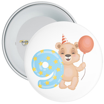 Bear 9th Birthday Badge