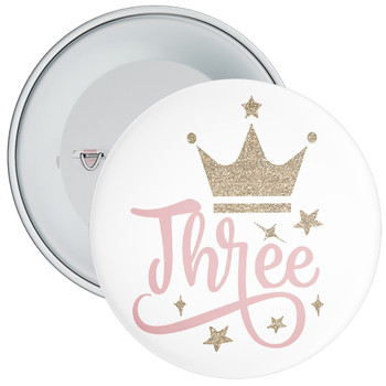 Crown 3rd Birthday Badge