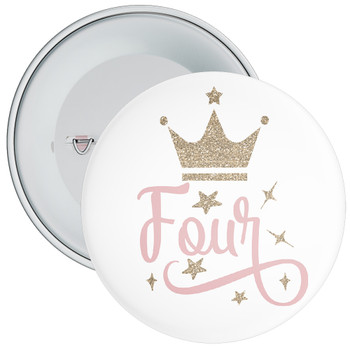 Crown 4th Birthday Badge