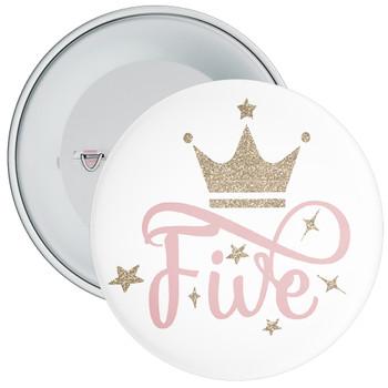 Crown 5th Birthday Badge