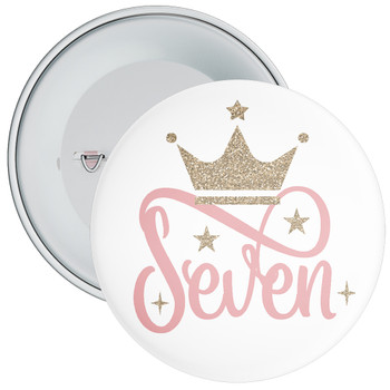 Crown 7th Birthday Badge