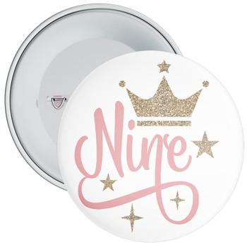 Crown 9th Birthday Badge