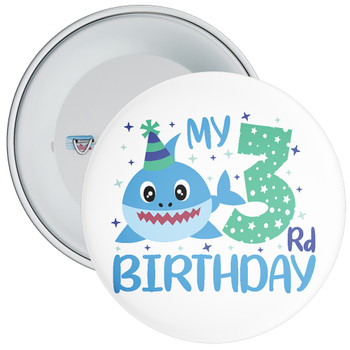 Shark My 3rd Birthday Badge