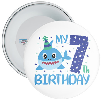 Shark My 7th Birthday Badge