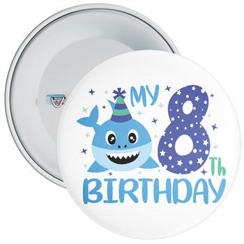 Shark My 8th Birthday Badge