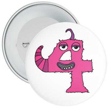 Monster 4th Birthday Badge