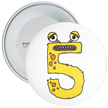Monster 5th Birthday Badge
