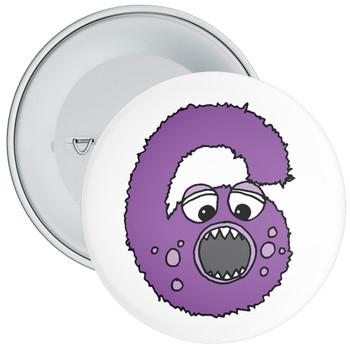 Monster 6th Birthday Badge