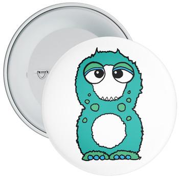 Monster 8th Birthday Badge