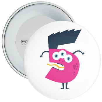 Monster Character 5th Birthday Badge