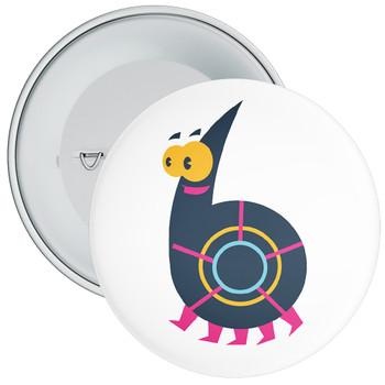 Monster Character 6th Birthday Badge