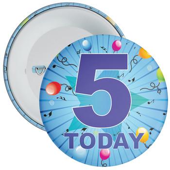 Blue 5th Birthday Badge