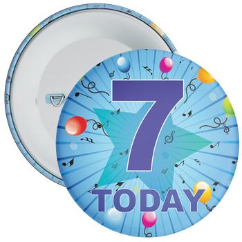 Blue 7th Birthday Badge