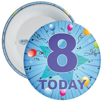 Blue 8th Birthday Badge