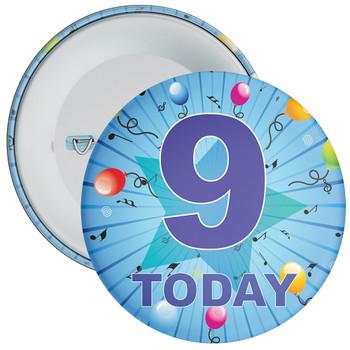 Blue 9th Birthday Badge