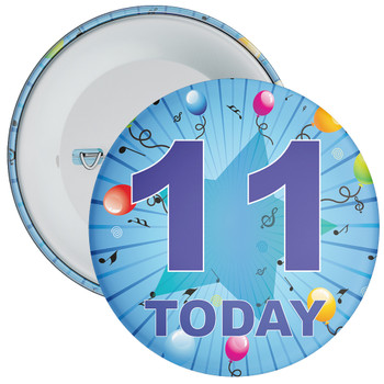 Blue 11th Birthday Badge