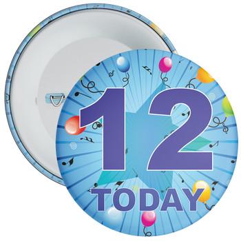 Blue 12th Birthday Badge