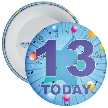 Blue 13th Birthday Badge
