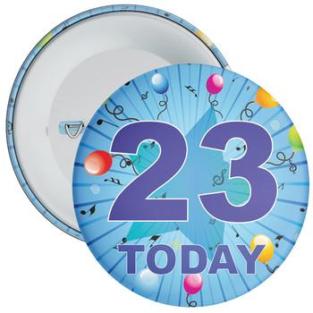 Blue 23rd Birthday Badge