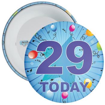 Blue 29th Birthday Badge