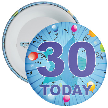 Blue 30th Birthday Badge
