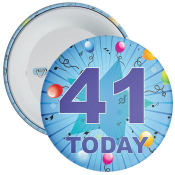 Blue 41st Birthday Badge