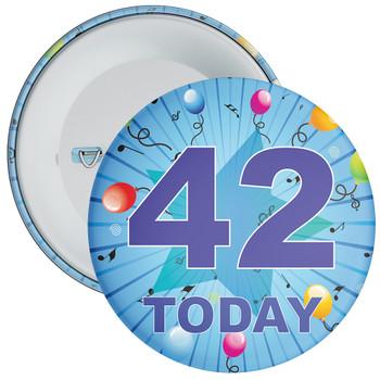 Blue 42nd Birthday Badge