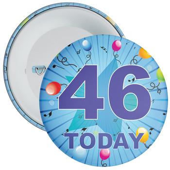 Blue 46th Birthday Badge