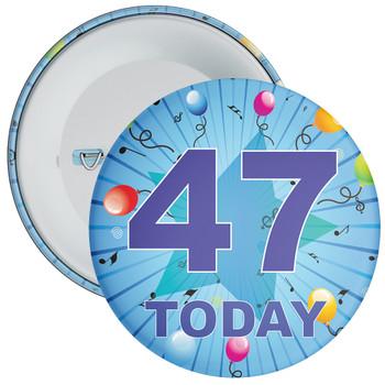 Blue 47th Birthday Badge