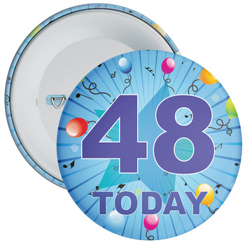 Blue 48th Birthday Badge