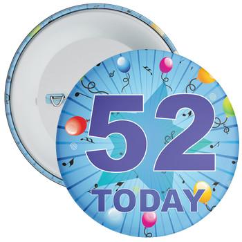 Blue 52nd Birthday Badge