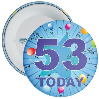 Blue 53rd Birthday Badge