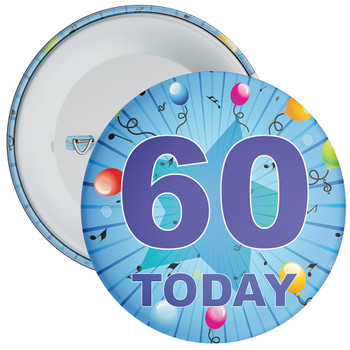 Blue 60th Birthday Badge