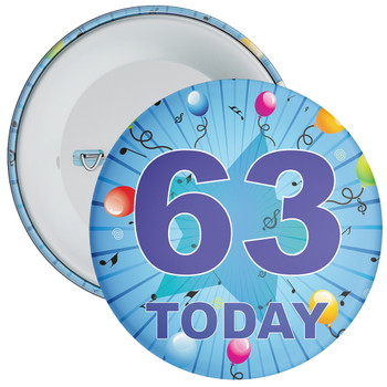 Blue 63rd Birthday Badge