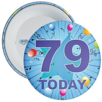 Blue 79th Birthday Badge