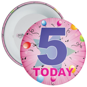 5th Birthday Badge Pink