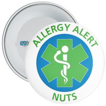 Nut Allergy Alert Badge - 5 Sizes