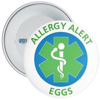 Eggs Allergy Alert Badge - 5 Sizes