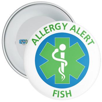 Fish Allergy Alert Badge - 5 Sizes
