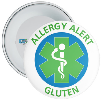 Gluten Allergy Alert Badge - 5 Sizes