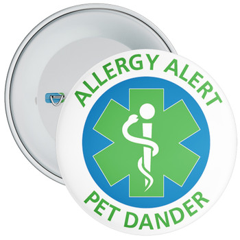 Pet Dander Allergy Alert Badge - 5 Sizes