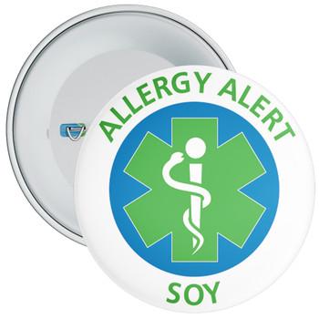 Soy Allergy Alert Badge - 5 Sizes