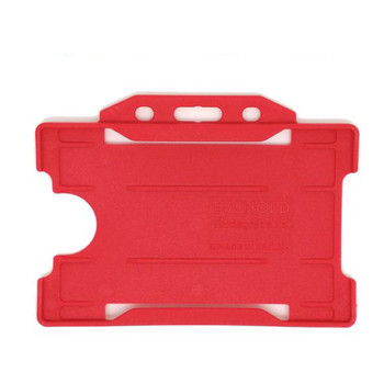 Red Single Sided Card Holder