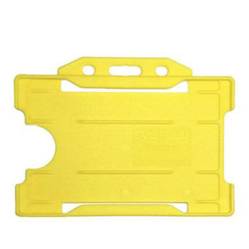 Yellow Single Sided Card Holder