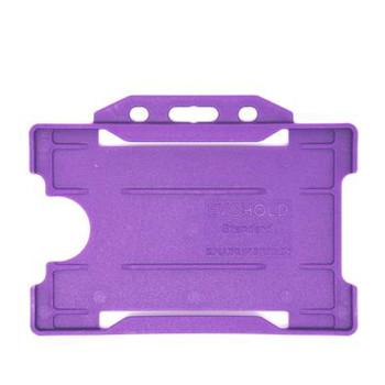 Purple Single Sided Card Holder