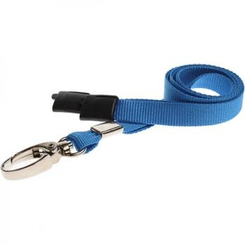 Light Blue Breakaway Lanyard with Lobster Clip