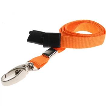 Orange Breakaway Lanyard with Lobster Clip
