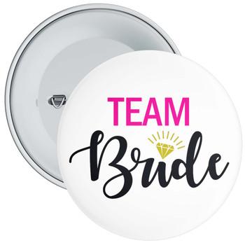 Team Bride Hen Badge Pink/Black