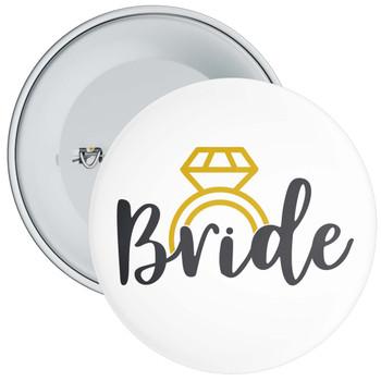 Black/Gold Bride Hen Night Badge